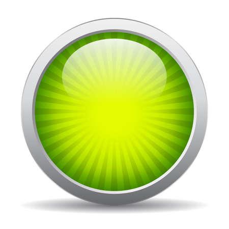 round: Green striped icon