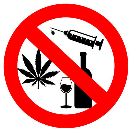 warning signs: No drugs and alcohol sign