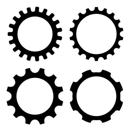 pinion: Gear wheel icon Illustration