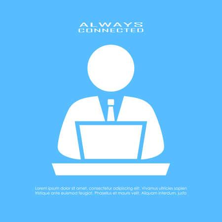 using the computer: Icono de usuario del ordenador
