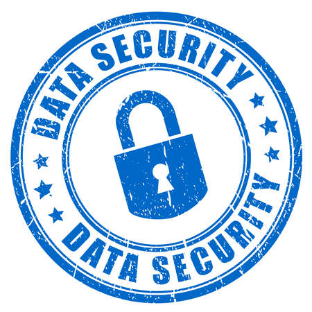 Data security rubber stamp Stock Illustratie
