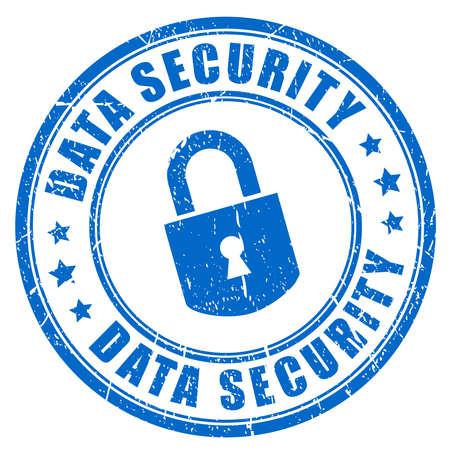 Sello de goma de seguridad de los datos Foto de archivo - 47846429