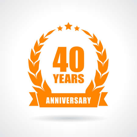 40 years anniversary icon