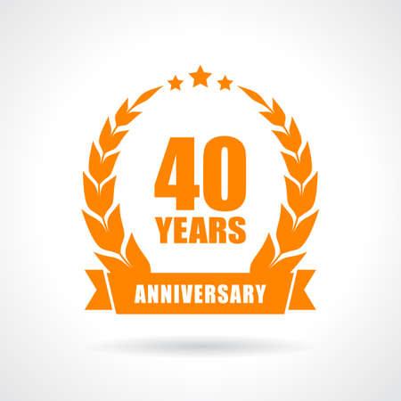 40 years: 40 years anniversary icon
