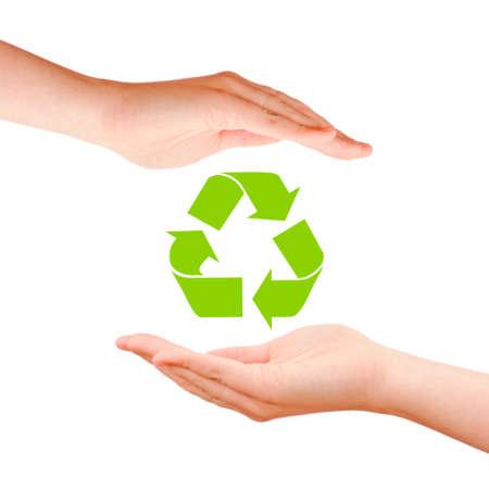 reciclable: El s?mbolo de reciclaje Foto de archivo