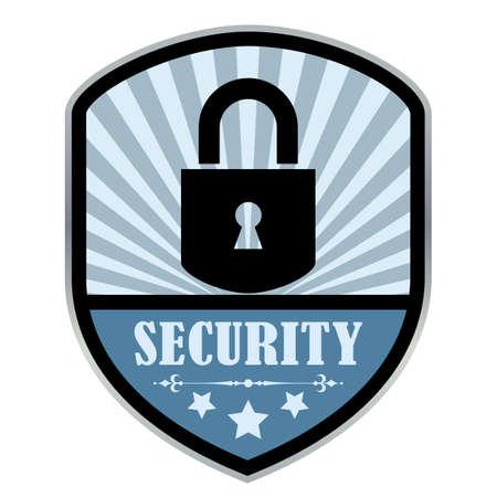label retro: Etiqueta retro Seguridad
