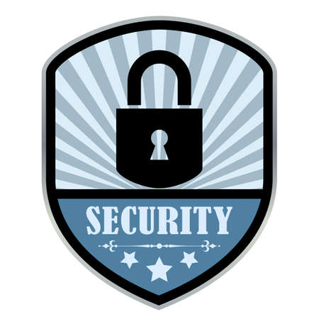 secured payment: Security retro label