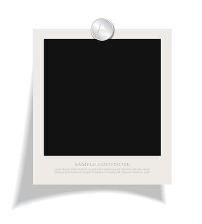 instant photo: Blank instant photo frame