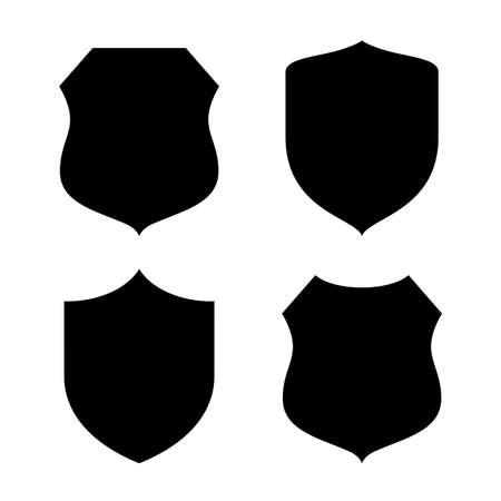 shape silhouette: Shield shape silhouette
