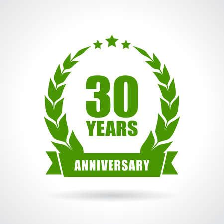 30 年周年記念アイコン 写真素材 - 48086440