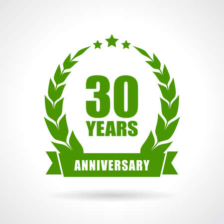 30 years anniversary icon