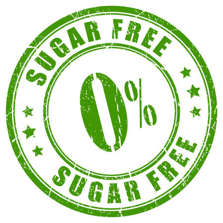 guaranty: Sugar free rubber stamp Illustration