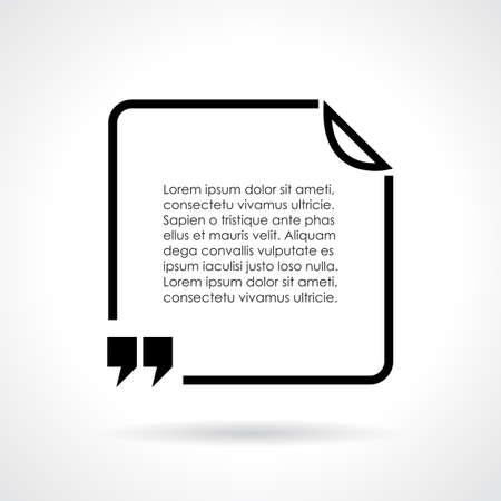 citation: Quote citation text bubble
