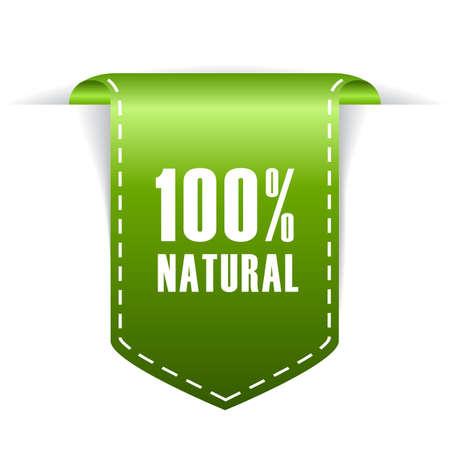 (100) 자연 레이블 일러스트