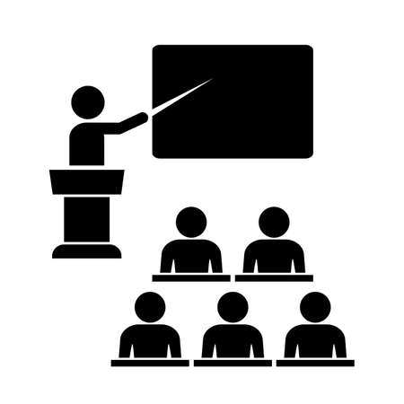 school class: School class icon Illustration