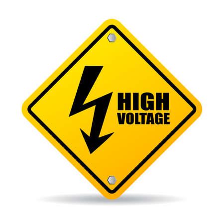 electroshock: High voltage warning sign