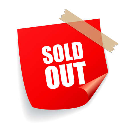 Sold out sticker Stock Illustratie