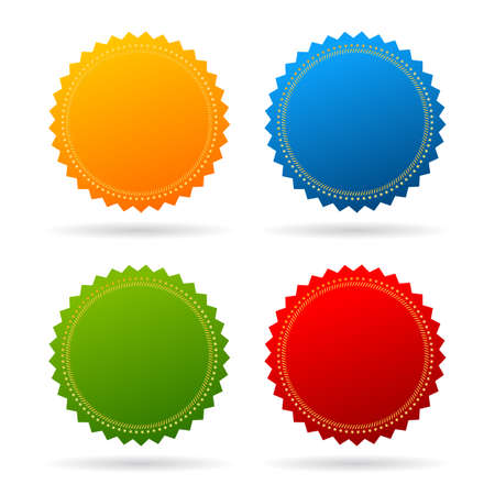 textbox: Star seal certificate icons on white background