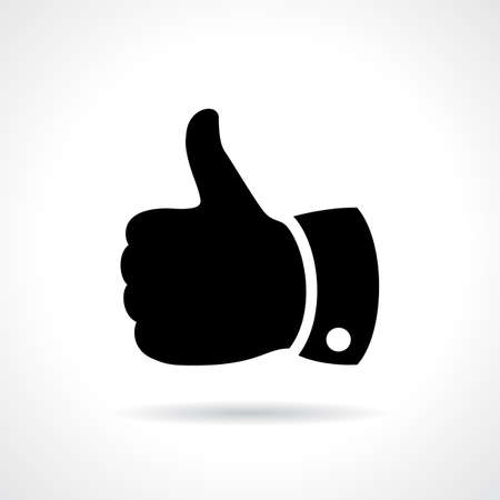 hand job: Thumb up vector sign