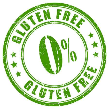 Gluten free stamp Illustration