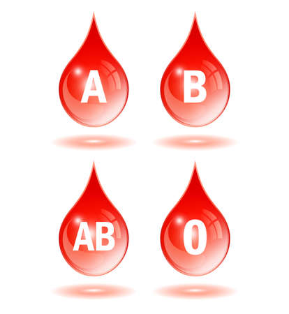 antigen: Blood type drop icon Illustration