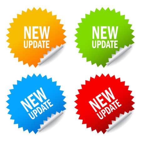 Nouvel autocollant de mise à jour Banque d'images - 48095764