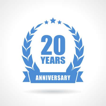 20 years anniversary icon Stok Fotoğraf - 48095787