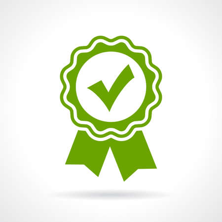 ok button: Approved certificate icon
