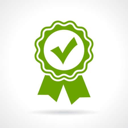 Zatwierdzony ikonę certyfikatu Ilustracje wektorowe