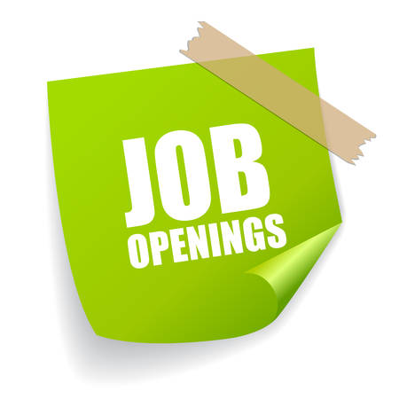 job vacancies: Job openings sticker Illustration