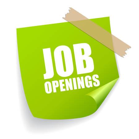 puesto de trabajo: Ofertas de empleo pegatina Vectores