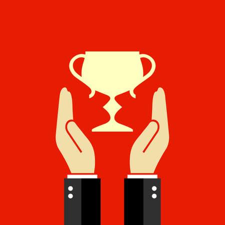 triunfador: Vector del cartel ganador