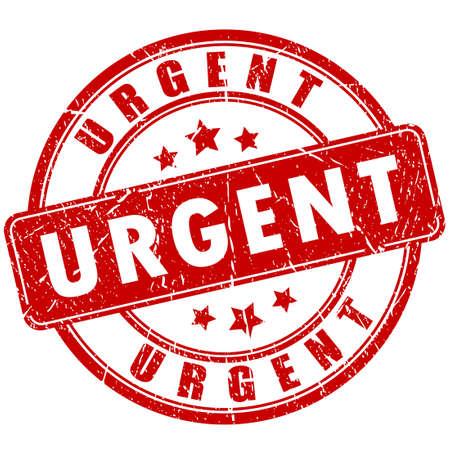urgently: Urgent vector stamp