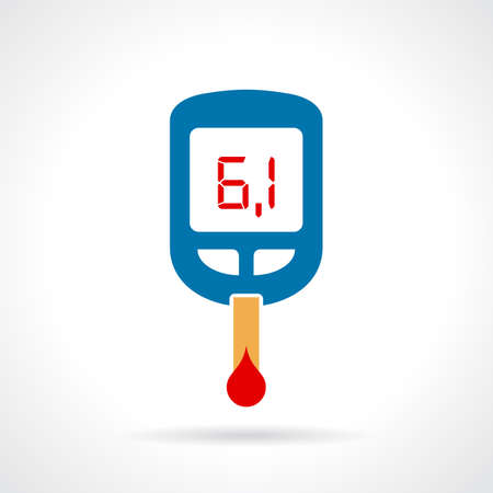 glucometer: Sugar test icon Illustration