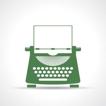 Icono de la máquina de escribir Foto de archivo - 48095914