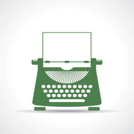 Schrijfmachine icoon Stock Illustratie