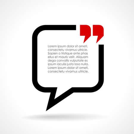 citing: Dialog text bubble