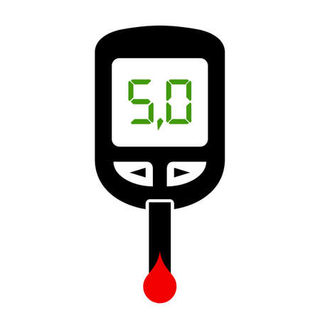 glucometer: Glucometer icon Illustration