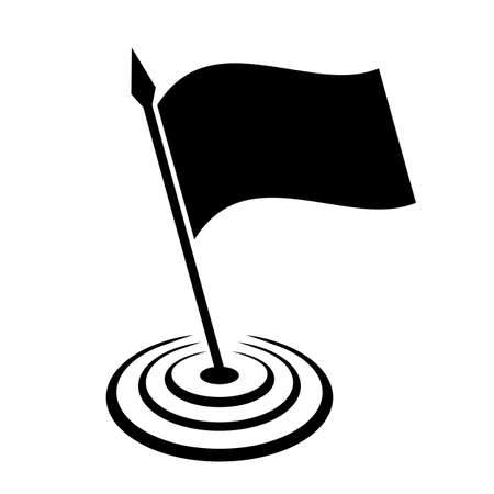 Vlag vector icon Stock Illustratie