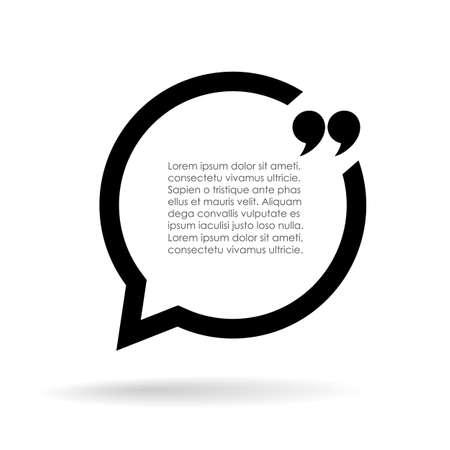 Citace textu bublina ilustrační