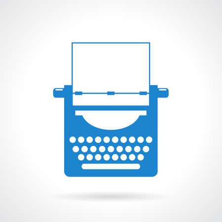 typewriter machine: Typewriter vector icon Illustration