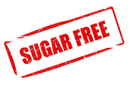 no cholesterol: Sugar free rubber stamp Stock Photo