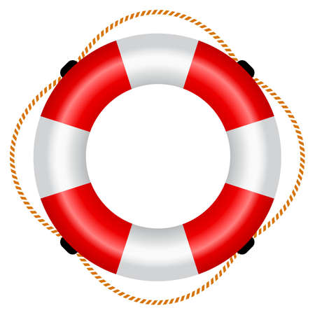 and marine life: Life raft icon Illustration