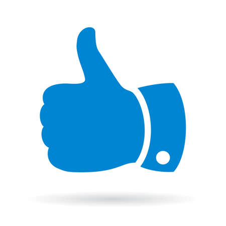 ok button: Thumb up finger sign Illustration