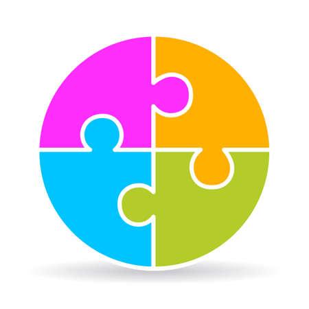 Four part puzzle diagram