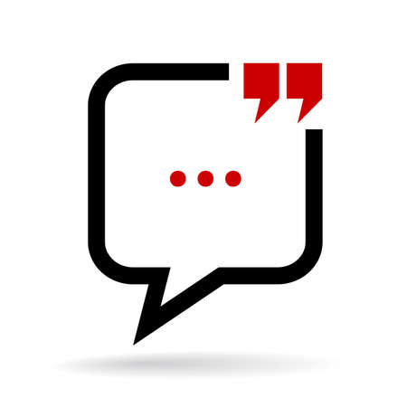 citing: Chat quote bubble icon Illustration