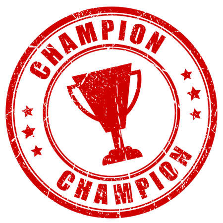 sign holder: Champion rubber stamp Illustration