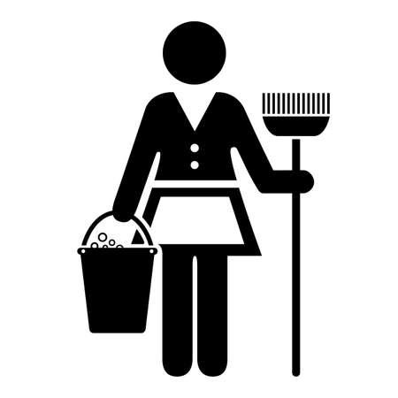 uniformes de oficina: Icono de mucama Vectores