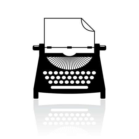Tipo escritor icono del vector Foto de archivo - 49504631