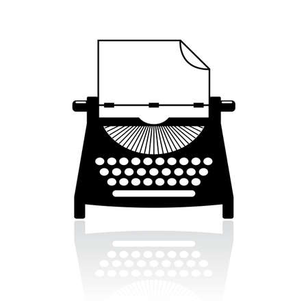 author: Type writer vector icon Illustration